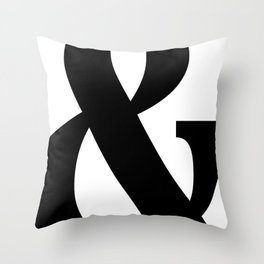 And Black and White Throw Pillow