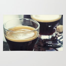 Breakfast with coffee Rug