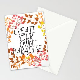 CREATE YOUR OWN PARADISE Stationery Cards