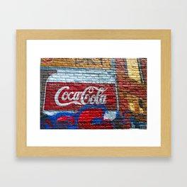 Drink Coke Framed Art Print