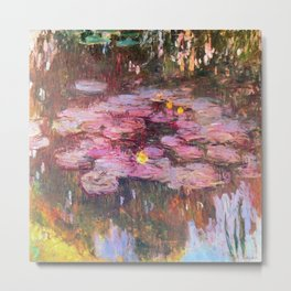 Water Lilies Monet 1917 Metal Print