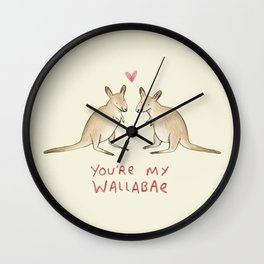 Wallabae Wall Clock