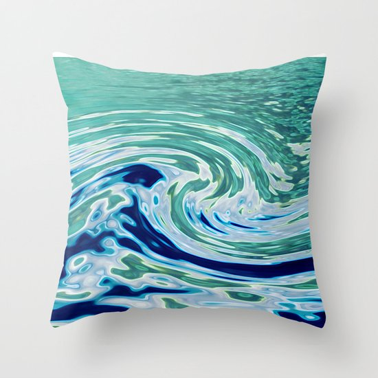 OCEAN ABSTRACT 2 Throw Pillow
