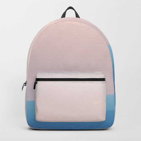 Pastel sunset over the mountains Backpack