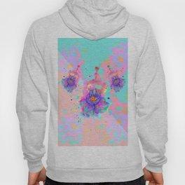 Colorful Watercolor Flower Hoody