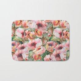watercolor spring flowers Bath Mat