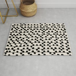 Dots / Black & White Pattern Rug