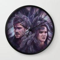 destiny Wall Clocks featuring Destiny by Svenja Gosen