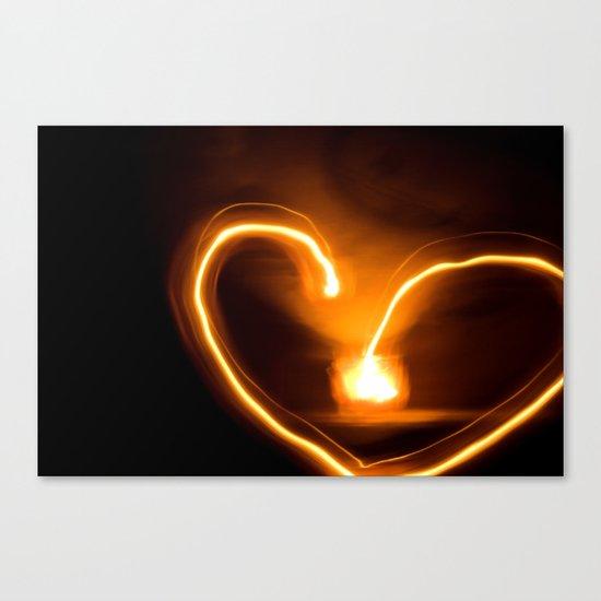 fire heart Canvas Print
