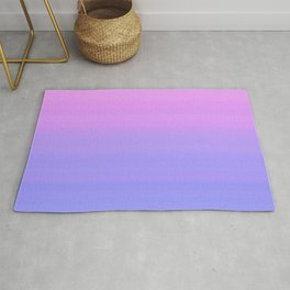 Pastel Pink Blue Stripes | Abstract gradient ombre pattern Rug