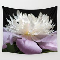 peony Wall Tapestries featuring Peony  by Maria Rose Collection