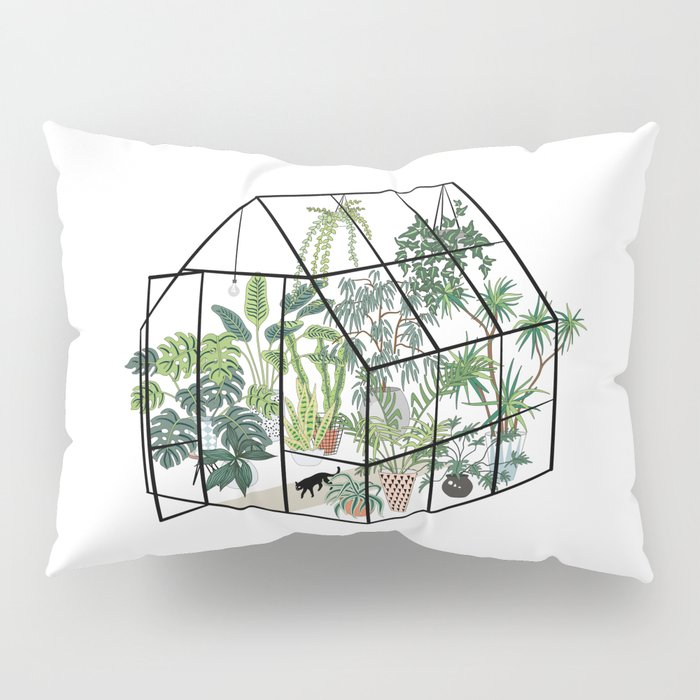 greenhouse with plants Pillow Sham