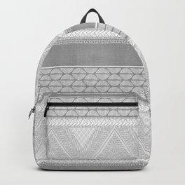Dutch Wax Tribal Print in Grey Backpack