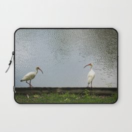 A Lakeside Chat Laptop Sleeve
