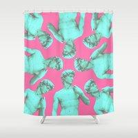 david tennant Shower Curtains featuring David by Cale potts Art