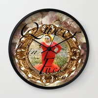 queer Wall Clocks featuring Queer as in Fuck You - Divine by Noisy Nora