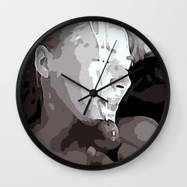 NSFW! Adult content! Cartoon sex play, cummy face, happy face poster style Wall Clock