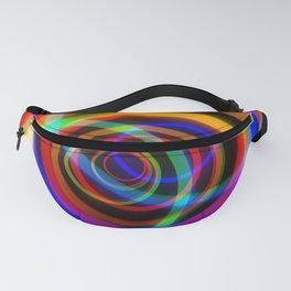 Rotating rainbow swirl. Fanny Pack