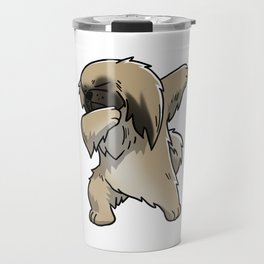 Funny Dabbing Pekingese Dog Dab Dance Travel Mug