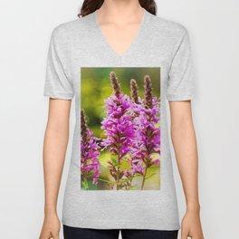 Purple Loosestrife Unisex V-Neck
