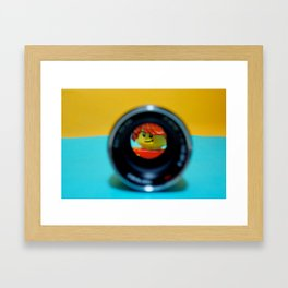 Another way to see the logo minifig Framed Art Print