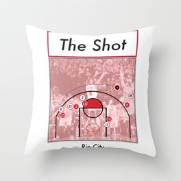 The Shot Series - Damian Lillard Throw Pillow