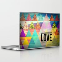"pocketfuel Laptop & iPad Skins featuring 1 Corinthians 13:13 ""And the greatest of these is Love"" by Pocket Fuel"