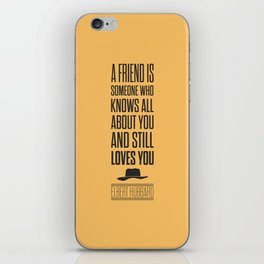 Lab No. 4 - Elbert Hubbard American Writer Motivational Typography Quotes Poster iPhone Skin