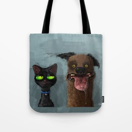 Cat is not impressed Tote Bag