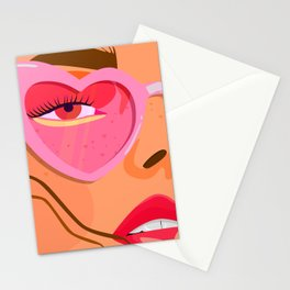 pink sunglasses Stationery Cards