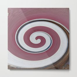Swirl 06 - Colors of Rust / RostArt Metal Print