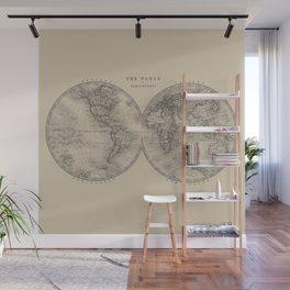 Hemispheres in Brown Wall Mural