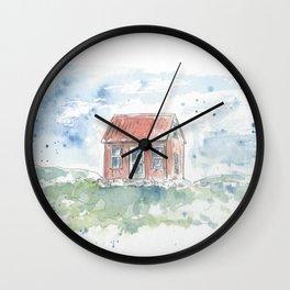 Wee house drawing Wall Clock