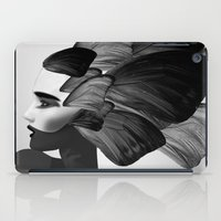 no face iPad Cases featuring  face  by mark ashkenazi
