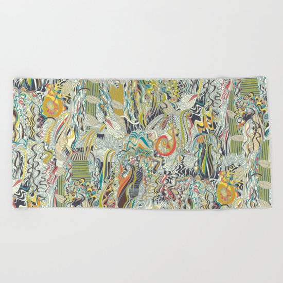 hairspray jungle Beach Towel
