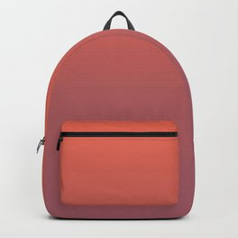 Pantone Living Coral & Mauvewood Pink Gradient Ombre Blend Backpack