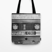 tape Tote Bags featuring Tape by RMK Photography