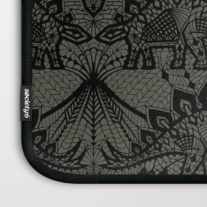 Stegosaurus Lace - Black / Grey Laptop Sleeve