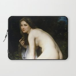 """William-Adolphe Bouguereau """"Bather"""" Laptop Sleeve"""