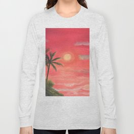 Palm trees swaying in the wind Long Sleeve T-shirt