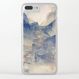 Tulle Mountains Clear iPhone Case