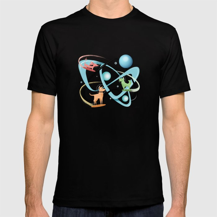Atomic Rocket Powered Space Dogs T-shirt