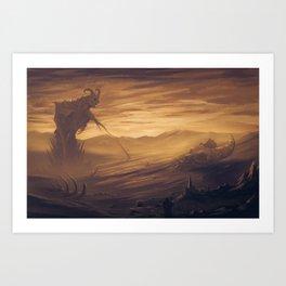 Sunset Over the Old Gods Art Print