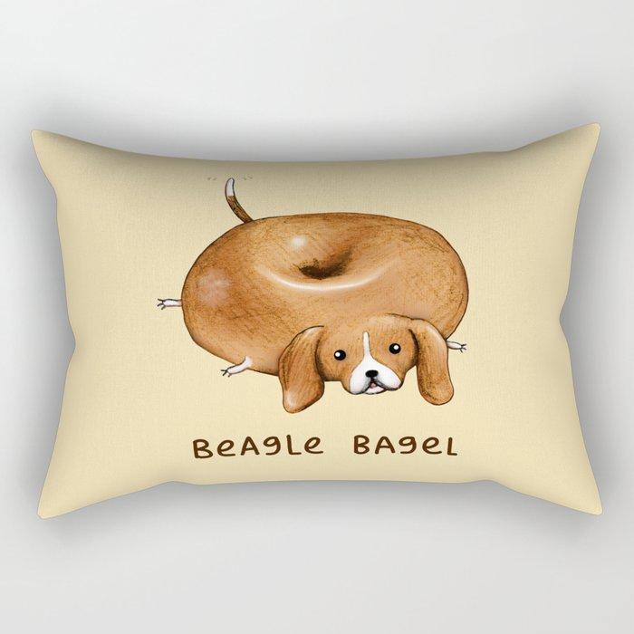 Beagle Bagel Rectangular Pillow