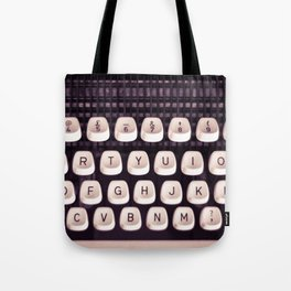 Retro Typewriter Keys Tote Bag