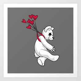 Swept Away Bear Art Print