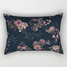 Japanese Boho Floral Rectangular Pillow