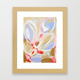 floral abstract painting Framed Art Print