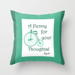 Penny Farthing. Throw Pillow