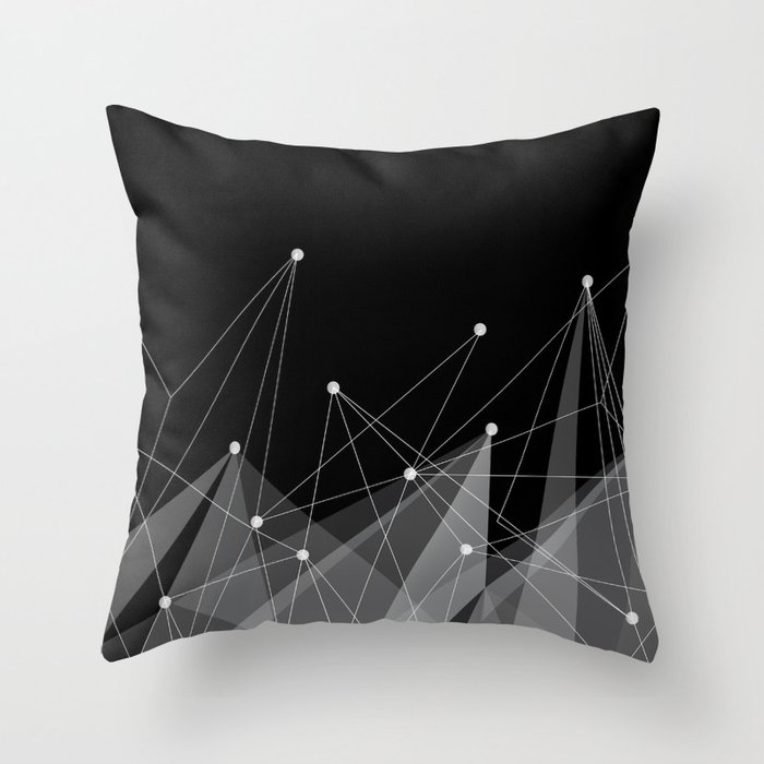 Black fractals Throw Pillow by cafelab Society6